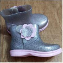 Galocha Infantil WorldColors Mia Baby - Gliter Prata/Rosa - 21 - WORD COLORS