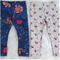 Kit com 2 calças legging - 2 anos - Zig Zig Zaa e Disney