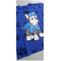 Camiseta Patrulha Canina Azul - 6 anos - sem etiqueta