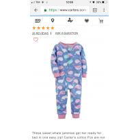 Pijama (macacão) Carters - 12 a 18 meses - Carter`s