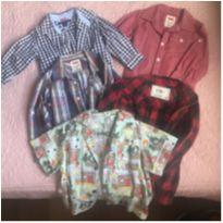 Camisas Sociais Super Charmosas - 18 a 24 meses - Tommy Hilfiger e Levi`s