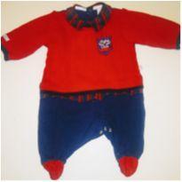 Macacão Saída de maternidade Lã e Algodão Menino Casual Sport - Recém Nascido - Beth Bebê