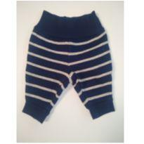 Calça Listrada Azul e Cinza Carters Inverno - Recém Nascido - Carter`s