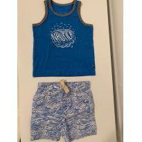 Conjunto Camiseta cavada e shorts Nautica - 9 a 12 meses - Nautica