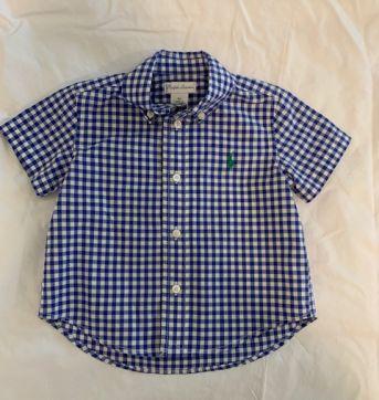 Camisa Ralph Lauren xadrez - 9 meses - Ralph Lauren