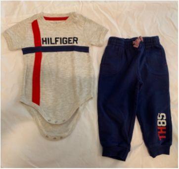 Conjunto de Body e Calça Tommy Hilfiger - 18 meses - Tommy Hilfiger