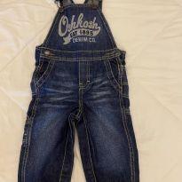 Jardineira Jeans - 12 a 18 meses - OshKosh e Oshkosh B´gosh e Ampelman