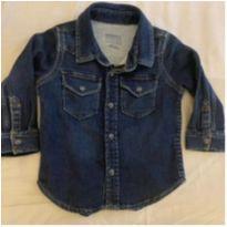 Camisa Jeans Baby Gap - 12 a 18 meses - GAP e Baby Gap