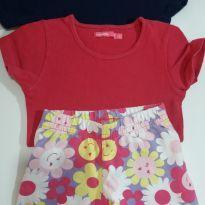 Lote de 2 camisetas e 1 bermuda nr 3-4 anos infantil - 4 anos - Bellucci e Fuzarka