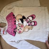 camiseta manga comprida estampada m - 6 a 9 meses - Marlan