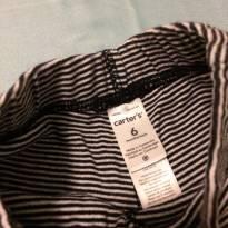 Calça masculina preta listrada - 6 meses - Carter`s