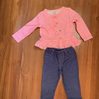 conjunto de blusa manga comprida e calça - 9 meses - Carter`s