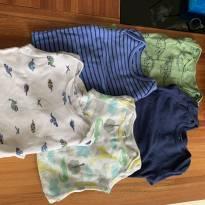 kit 5 bodys de manga comprida - 9 meses - Carter`s
