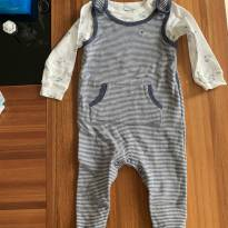 macacão com camiseta de manga comprida carter's - 9 meses - Carter`s