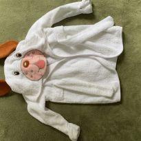 roupão de cachorro com capuz e detalhe de rabo nas costas - 6 a 9 meses - Sem marca