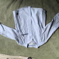 camisa masculina com detalhe de dobra na manga - 9 a 12 meses - Zara Baby