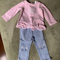 conjunto de blusa e calça 12 meses carter's - 1 ano - Carter`s