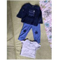 kit 3 peças, camiseta manga longa, body manga curta e calça. carter's 12 meses - 1 ano - Carter`s