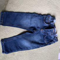 calça jeans 9 -12 meses com ajuste na cintura - 9 a 12 meses - Sem marca