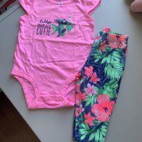 conjunto feminino, calça e body carter's 6 meses - 6 meses - Carter`s