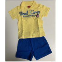 conjunto kyly. camiseta polo e bermuda (algodão) tamanho m