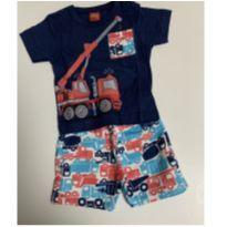 conjunto kyly. camiseta e bermuda (algodão) tamanho m - 6 meses - Kyly