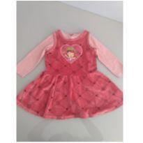 Vestido veludo Moranguinho - 2 anos - Malwee e Strawberry shortcake