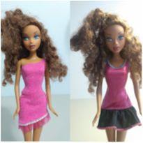 Dupla de vestidos para boneca Barbie -  - Não informada