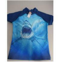 Camiseta tubarão com  proteção UV - 4 anos - Siri Kids