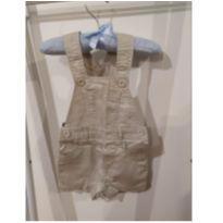Macaquinho jeans - 3 a 6 meses - Teddy Boom