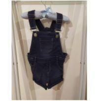 Macaquinho jeans - 9 a 12 meses - Clube do Dino