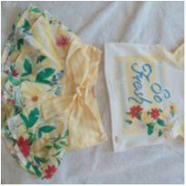 Conjunto de short saia e blusa lindíssimoooo ( petit cherie) 6 anos - 6 anos - Petit Cherie