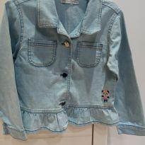 jaqueta jeans claro alphabeto - 6 anos - Alphabeto