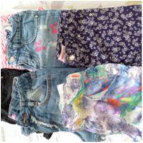 6 shorts( kit 1 da Barbie/ 2 da c&a / 1 da Lilica Ripilica / 2 Marisa -  T8anos