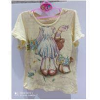 Blusa amarela de manguinha soltinha.Lilica Ripilica tamanho6 - 6 anos - Lilica Ripilica