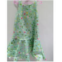 Vestido Animê _ verde água de beijinholindo veste 6anos - 4 anos - Animê