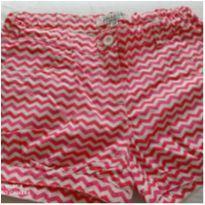 Short da c&a _ Chevron branco e rosa TAmanho 8 - 8 anos - C&A