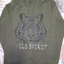 Blusa manga comprida tigre