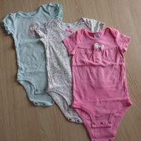 Conjunto Bodys corujinha - 3 a 6 meses - Child of Mine e Carter`s