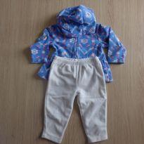 Conjuntinho azul e branco - 9 meses - Carter`s