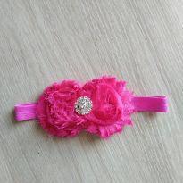Faixa com flor rosa pink - Sem faixa etaria - Não informada