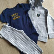 Conjunto daddy`s litlle monster - 1 ano - Carter`s