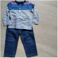 Camiseta + jeans - 18 meses - Carter`s