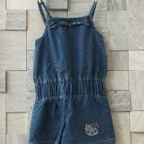 Macaquinho Jeans - 4 anos - Hello  Kitty