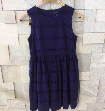 Vestido azul marinho - 12 anos - Tommy Hilfiger