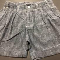 Shorts - Jeans leve com pregas frontais - Gymboree - 8 anos - Gymboree