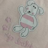 Macação bebe - Algodão - Manga curta - Cachorrinho - Up Baby - 6 a 9 meses - Up Baby