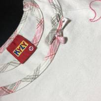 Camiseta Manga Longa (estilo bata) com estampa e detalhe na gola - Kyly - 2 anos - Kyly