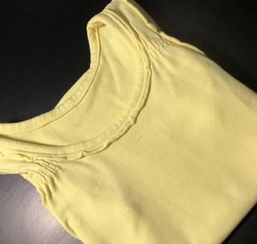Regata - Cotton leve lisa amarela com babado - PUC - 2 anos - PUC