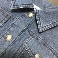 Jaqueta jeans com acabamento elástico na cintura/punhos - Tyrol - 6 anos - Tyrol